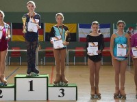 Siegerehrung im Cup Damen Kombination