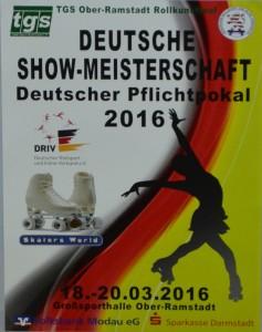 Plakat zur Rollkunstlaufveranstaltung