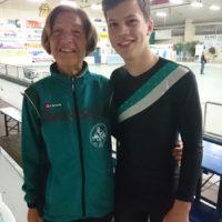 Eric mit Trainerin