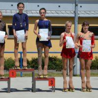 Siegerehrung der Kunstläuferinnen