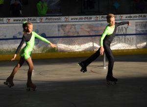 Rollkunstlauf-Paar