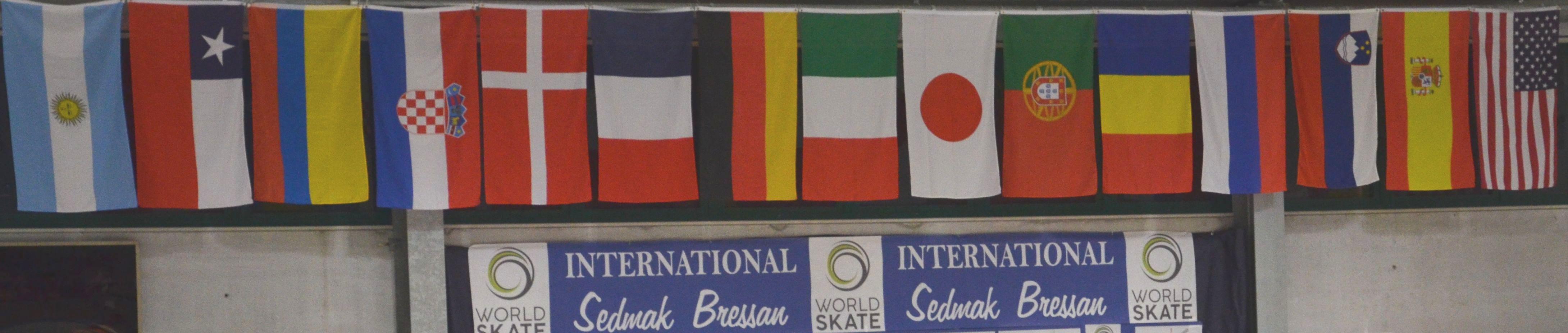 Fahnenrätsel der 15 Teilnehmerstaaten