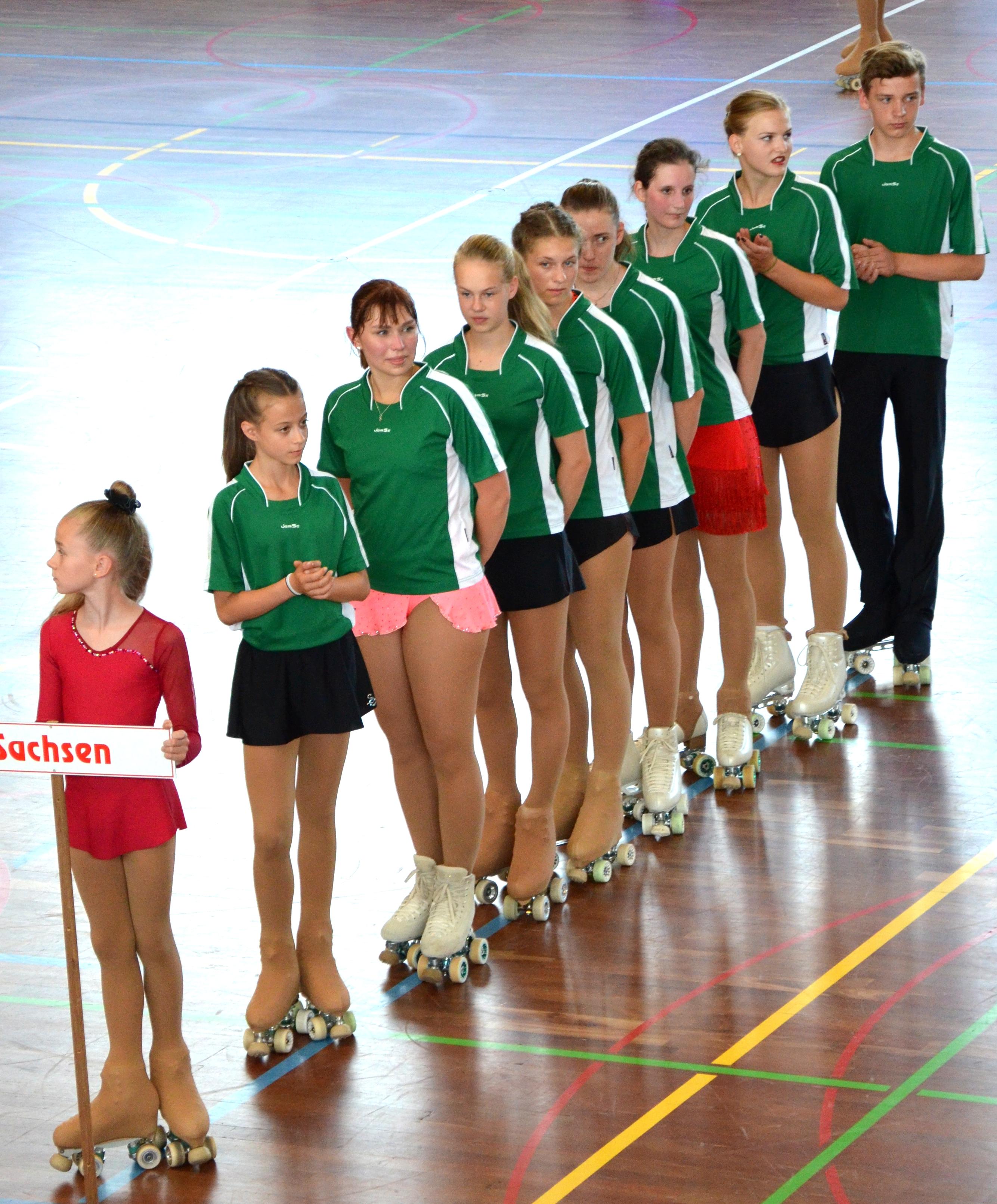 Team Sachsen bei der Eröffnung