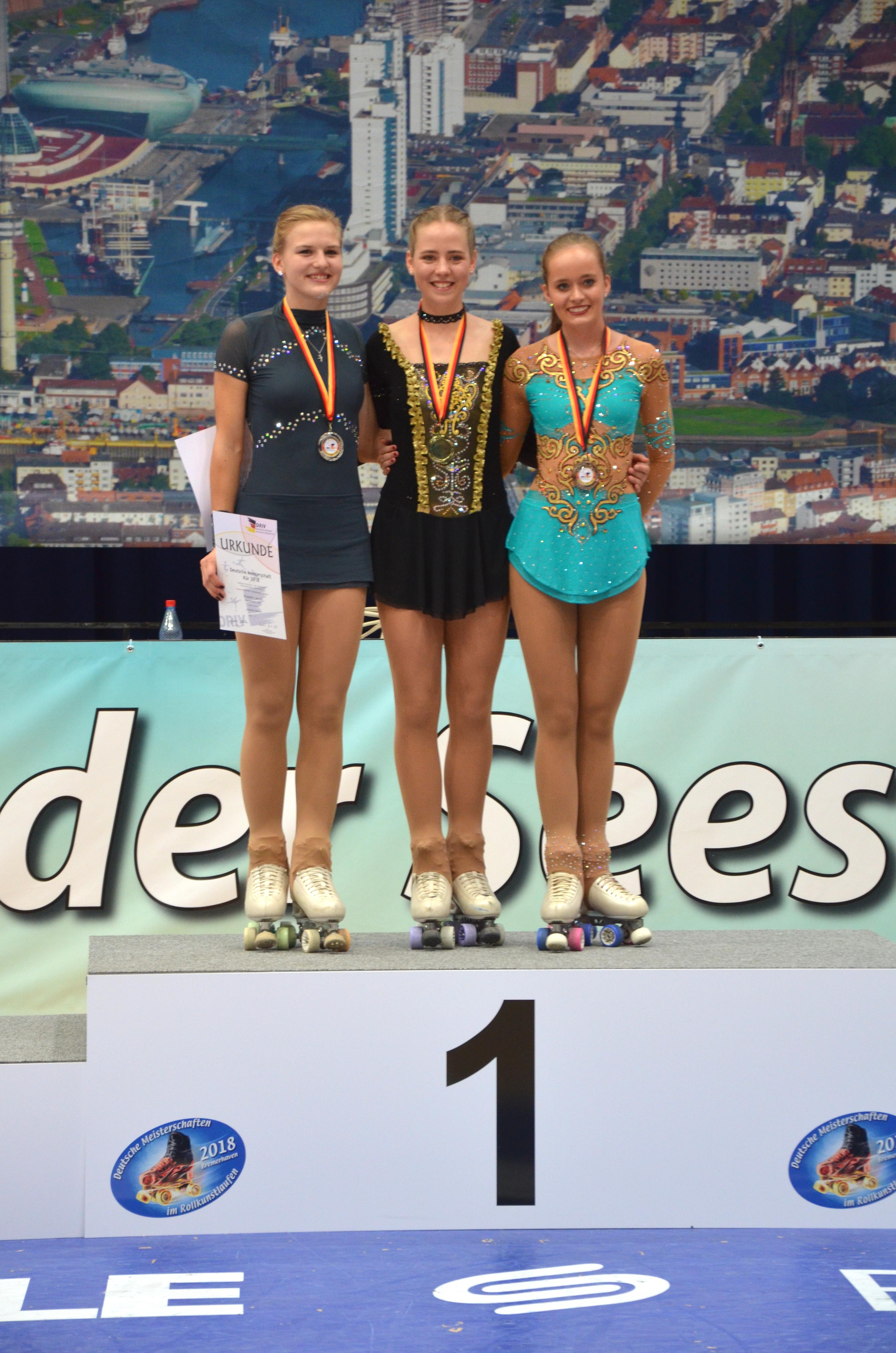 die ersten drei Junioren Damen