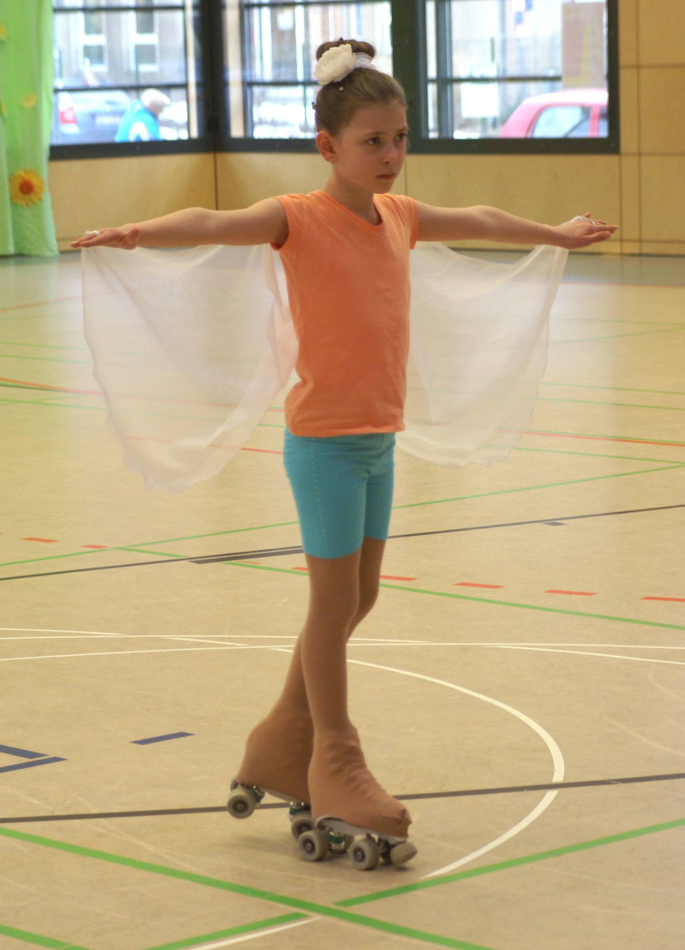 Lilly mit Flügeln