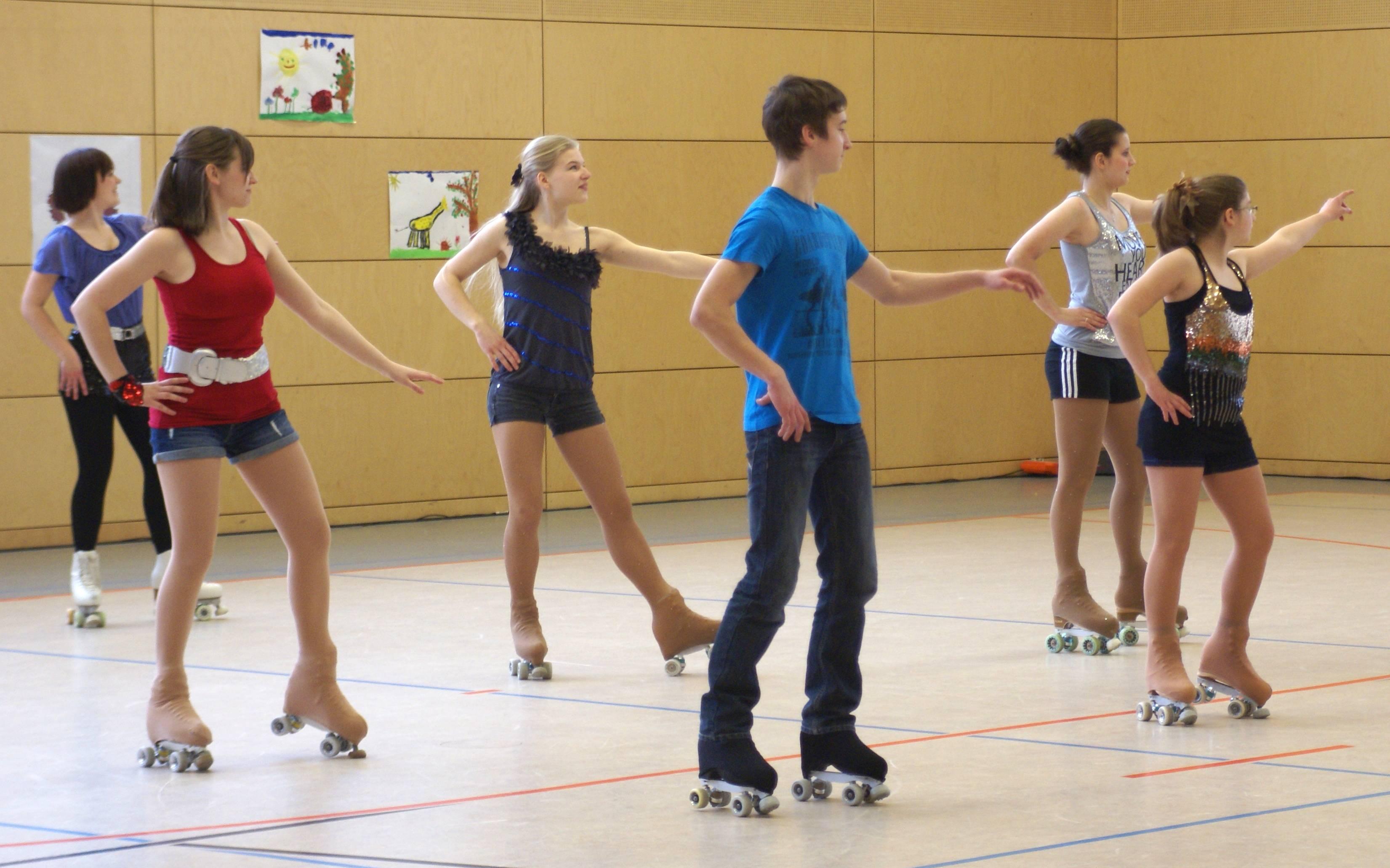 Tanzen nach heißen Rhythmen