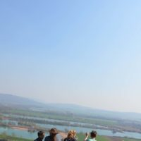 Blick zur Weser und in die Lüfte