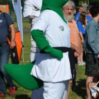 Maskottchen in grün-weiß